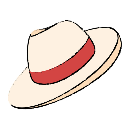 male hat summer icon vector illustration design Illustration