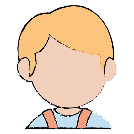 Progettazione sveglia dell'illustrazione di vettore del carattere del ragazzino Archivio Fotografico - 86426718