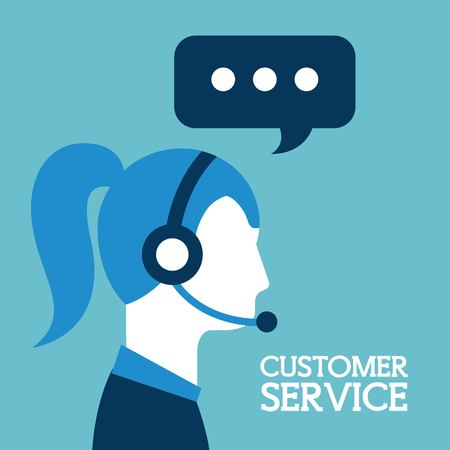 klantenservice call center operator dragen hoofdtelefoon vector illustratie