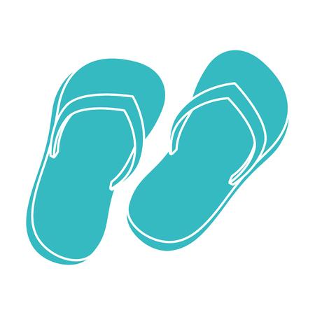flip flops beach icon vector illustration design