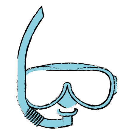 snorkel and googles isolated icon vector illustration design