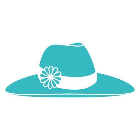 Vrouwelijke strand hoed pictogram vector illustratie ontwerp Stockfoto - 86426794