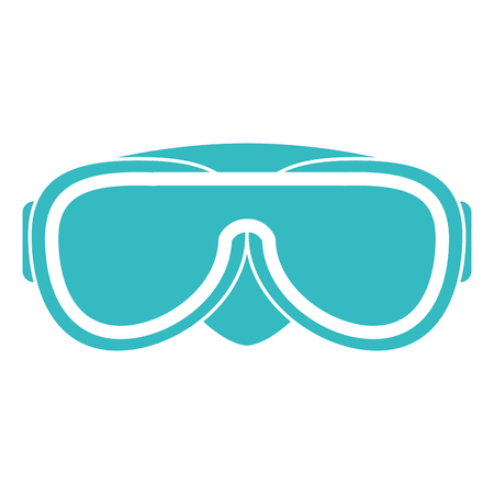 snorkel googles isolated icon vector illustration design Çizim