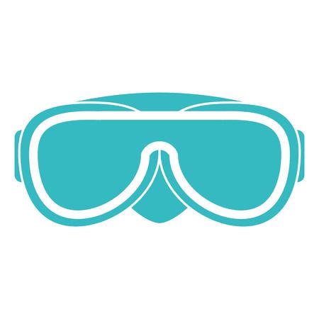 snorkel googles isolated icon vector illustration design 向量圖像