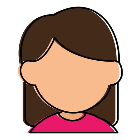 Progettazione sveglia dell'illustrazione di vettore del carattere della bambina Archivio Fotografico - 86426854
