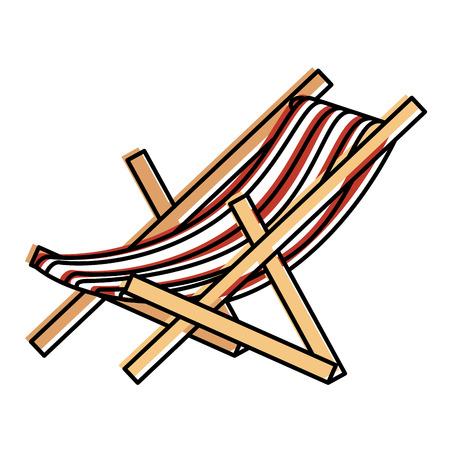 Strandstoel geïsoleerd pictogram vector illustratieontwerp Stockfoto - 86426865