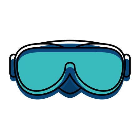 snorkel googles isolated icon vector illustration design Illustration