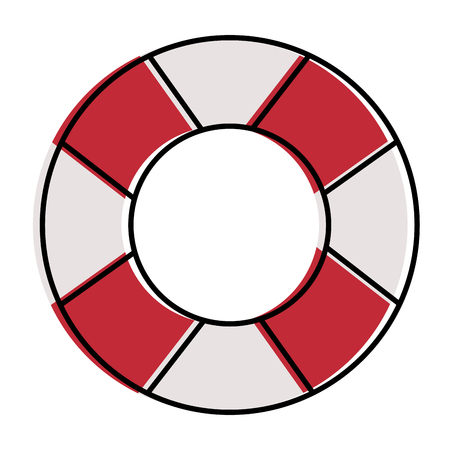 lifeguard float isolated icon vector illustration design