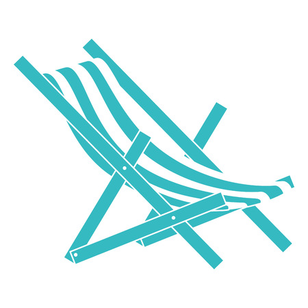 strandstoel geïsoleerd pictogram vector illustratieontwerp