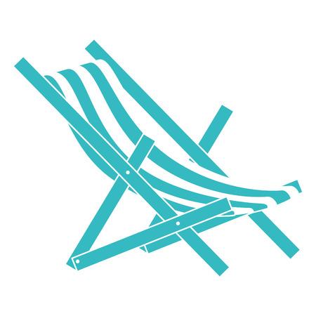 Strandstoel geïsoleerd pictogram vector illustratieontwerp Stockfoto - 86426880