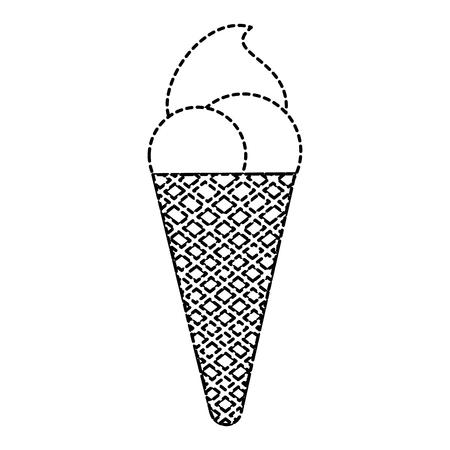 아이스크림 격리 아이콘 벡터 일러스트 디자인 일러스트