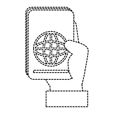 hand human with passport document isolated icon vector illustration design Illustration