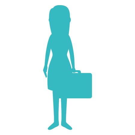 Belle fille avec valise vector illustration design Banque d'images - 86426915