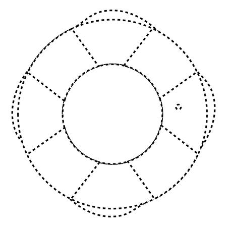 ライフガード分離フロート アイコン ベクトル イラスト デザイン