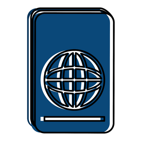 여권 문서 격리 된 아이콘 벡터 일러스트 레이 션 디자인 스톡 콘텐츠 - 86426938