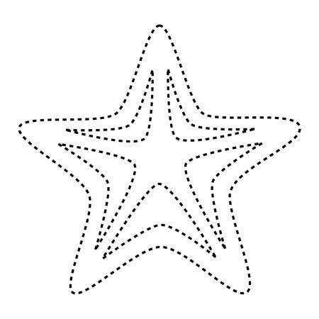starfish animal isolated icon vector illustration design