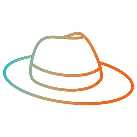male hat summer icon vector illustration design 向量圖像
