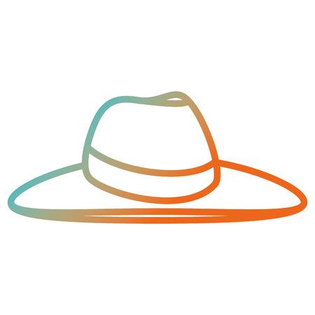 vrouwelijke strand hoed pictogram vector illustratie ontwerp