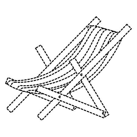 Strandstoel geïsoleerd pictogram vector illustratieontwerp Stockfoto - 86426981