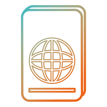 Documento de pasaporte aislado icono de ilustración vectorial de diseño Foto de archivo - 86426986