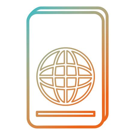 Progettazione dell'illustrazione di vettore dell'icona isolata documento del passaporto Archivio Fotografico - 86426986