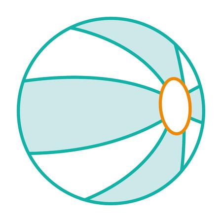 Strand ballon geïsoleerd pictogram vector illustratie ontwerp