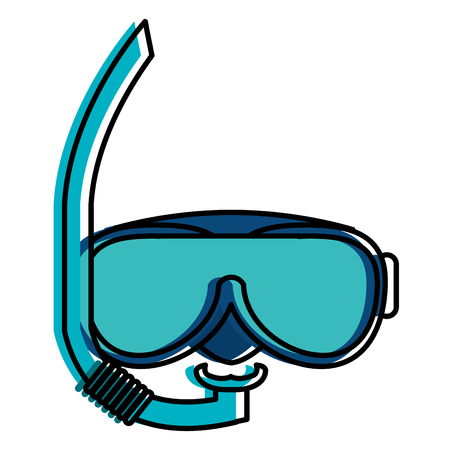 Snorkel and googles isolated icon vector illustration design Illustration