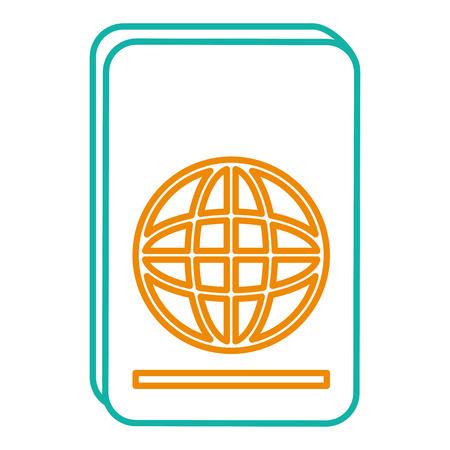 Diseño aislado del ejemplo del vector del icono del pasaporte Foto de archivo - 86478622