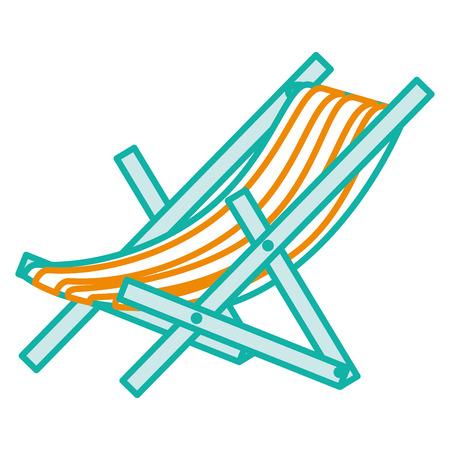 Strandstoel geïsoleerd pictogram vector illustratie ontwerp Stock Illustratie