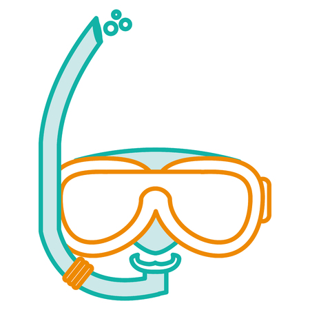 Snorkel and goggles isolated icon vector illustration design Illustration