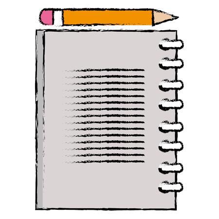 notebook school with pencil vector illustration design Stock Vector - 86427048