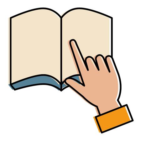 handleser met tekstboek school icoon vector illustratie ontwerp