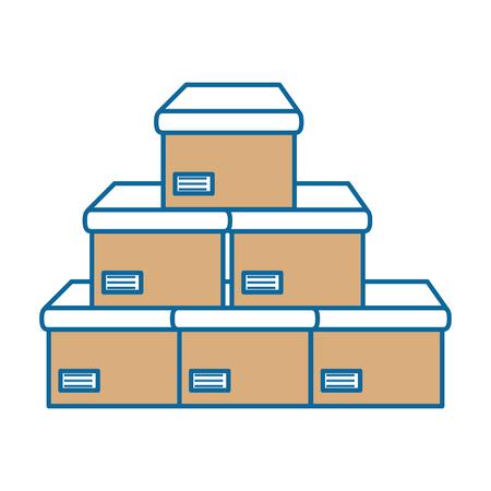 상자 카톤 격리 된 아이콘 벡터 일러스트 디자인