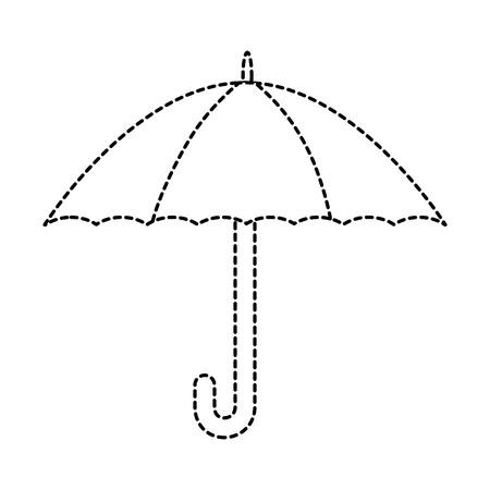 Protezione dell'ombrello isolata icona illustrazione di illustrazione vettoriale Archivio Fotografico - 86478921