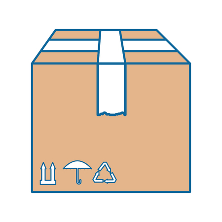 box carton isolated icon vector illustration design Banco de Imagens - 86478929