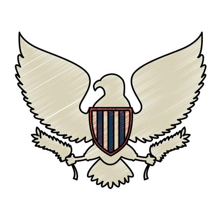 アメリカ合衆国イーグルベクターイラストデザイン  イラスト・ベクター素材