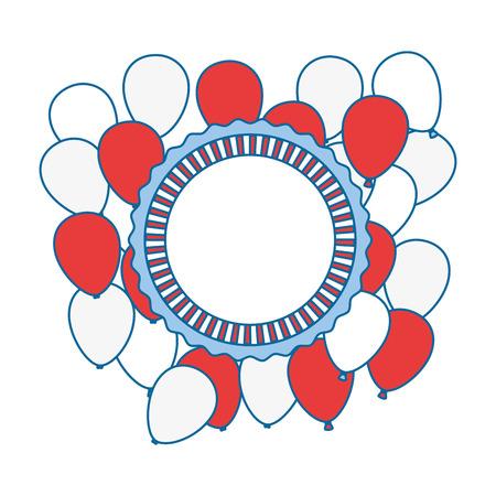 united states of america balloons air vector illustration design Illustration