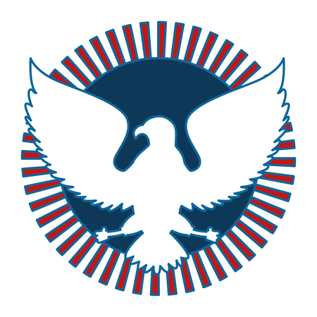 united states of america eagle vector illustration design