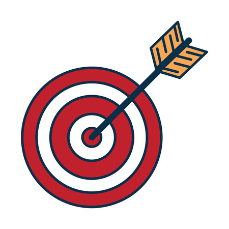 target with arrow icon vector illustration design Stock Vector - 86479115