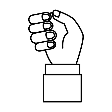 Menselijke hand vangen pictogram vector illustratie ontwerp Stockfoto - 86479171