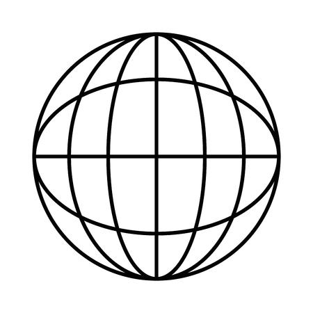 Sfera planet isolato icona illustrazione vettoriale di progettazione Archivio Fotografico - 86479193