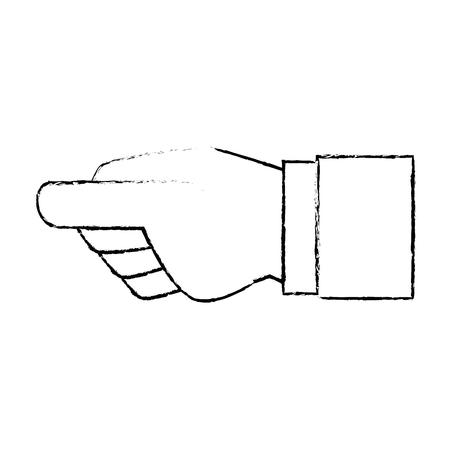 Menselijke hand vangen pictogram vector illustratie ontwerp Stockfoto - 86479329