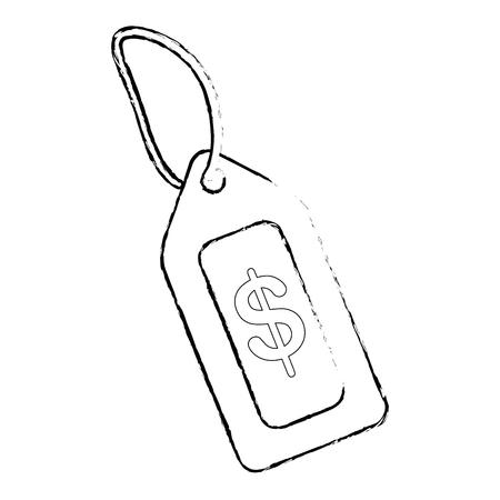 タグの価格分離アイコン ベクトル イラスト デザイン