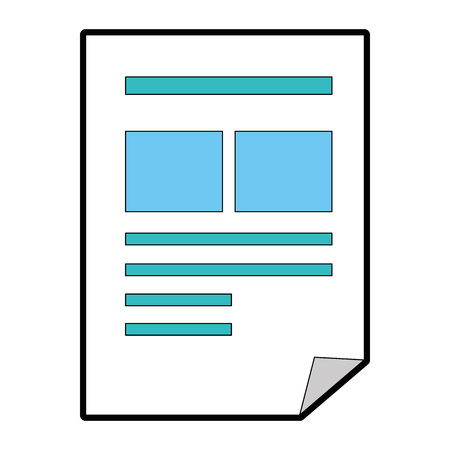 document paper isolated icon vector illustration design