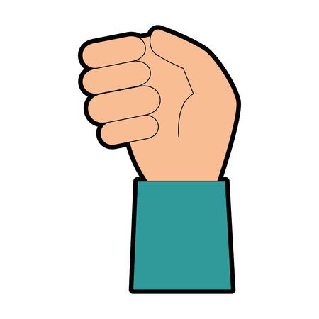 人間の手のアイコン ベクトル イラスト デザインをキャッチ