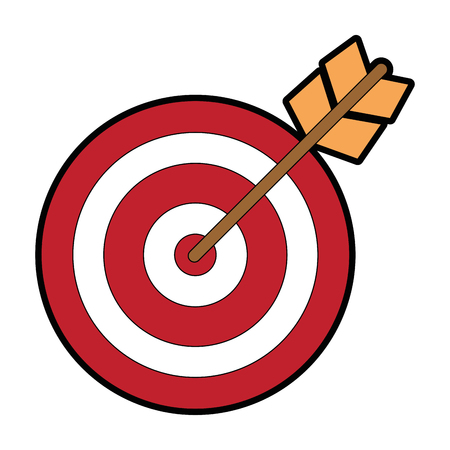 target with arrow icon vector illustration design Stock Vector - 86479410