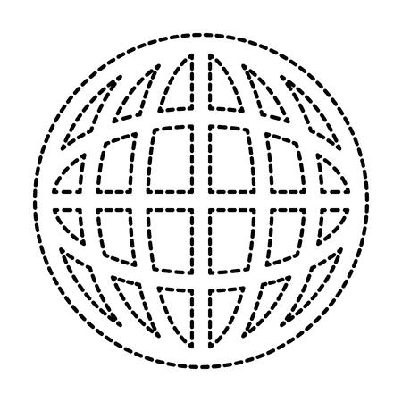 惑星球分離アイコン ベクトル イラスト デザイン