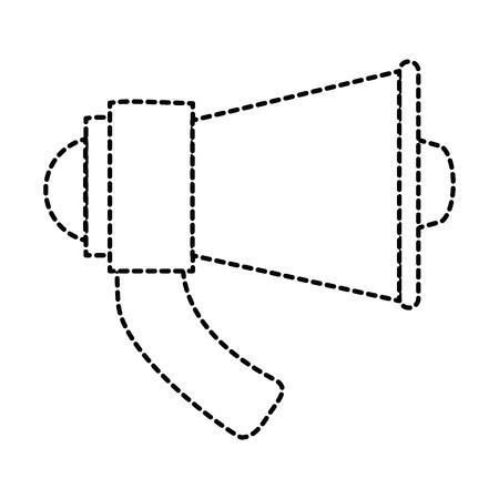 Megaphone audio isolated icon vector illustration design Illustration