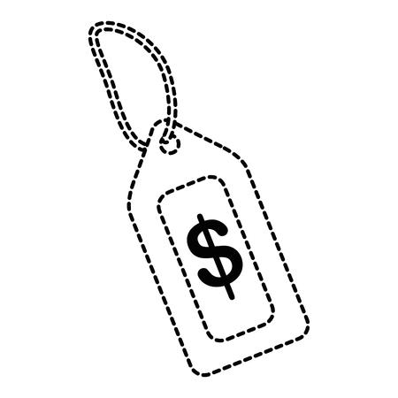 タグの価格分離されたアイコンベクトルイラストデザイン  イラスト・ベクター素材