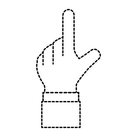 Menselijke hand wat betreft pictogram vectorillustratieontwerp